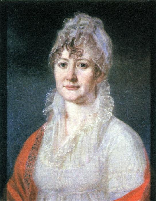 Елизавета Алексеевна Арсеньева, бабушка М. Ю. Лермонтова. Неизвестный художник.