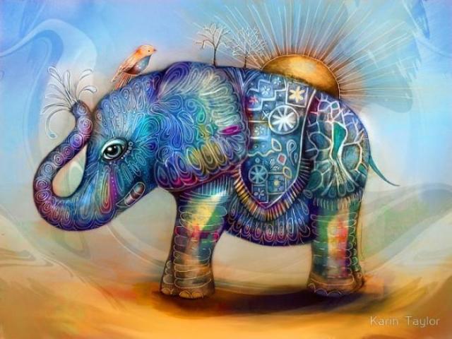 Волшебный слоник. Автор: Karin Taylor.