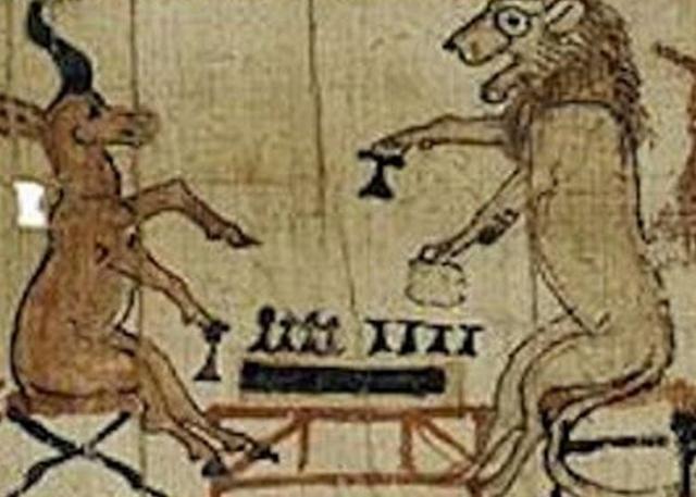 Египетские художники не были лишены чувства юмора.