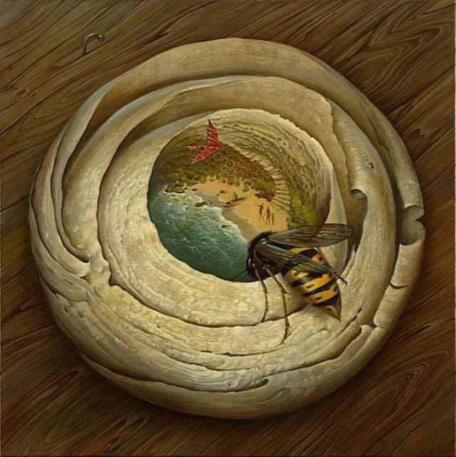 Пролетая над гнездом осы. Автор: Владимир Куш.