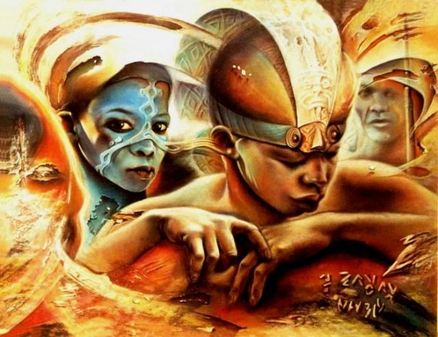 Работы заирского художника Клоди Хана (Claudy Khan).