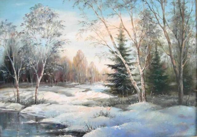 Очарование зимы на картинах известных художников