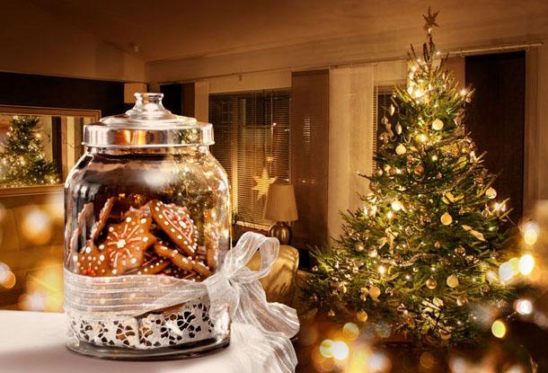 """Новогодняя картинка """"Печенье в банке"""""""