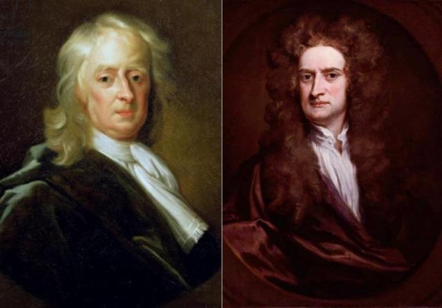 Слева – Е. Симен-младший. Исаак Ньютон, 1726. Справа –  Г. Кнеллер. Портрет сэра Исаака Ньютона, 1702 | Фото: eaculture.ru и rushist.com